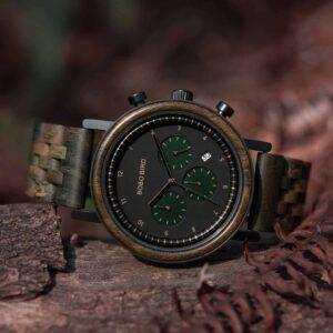 Minimalist Lightweight Handmade Sandalwood Wooden Wrist Watch Japanese Quartz Movement - Neptune T27-2