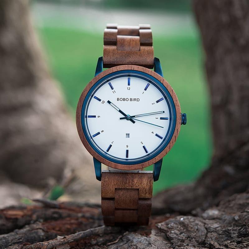 wooden watches for men ANTON - Walnut