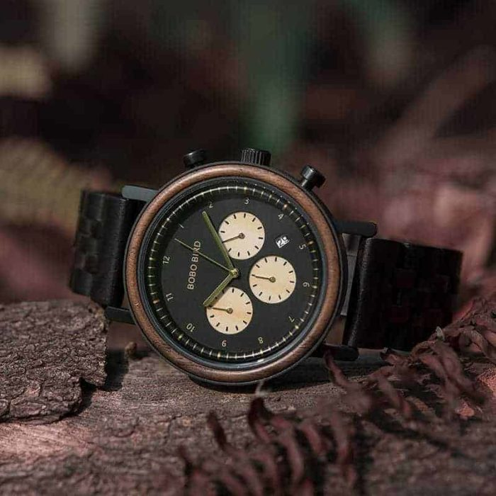 bobo bird wooden watches for men The Night Sky collection - Piton T27-1