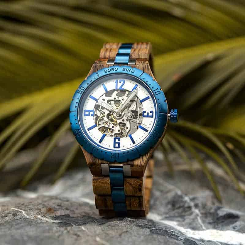 Automatic Mechanical Movement Wooden Watches Q29-3-3