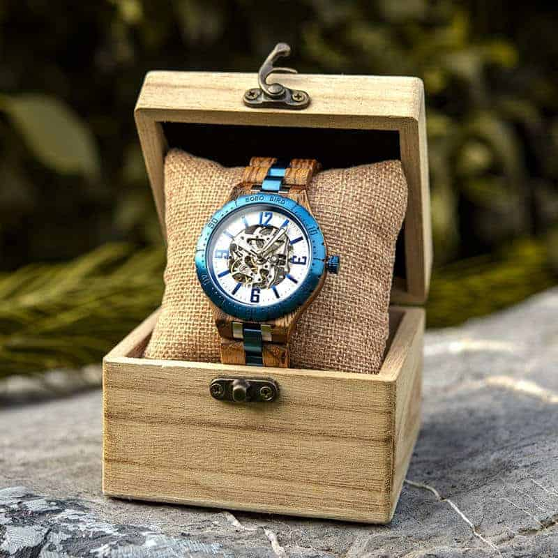 Automatic Mechanical Movement Wooden Watches Q29-3-8