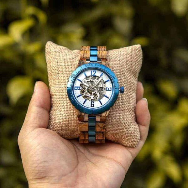 Automatic Mechanical Movement Wooden Watches Q29-3-9