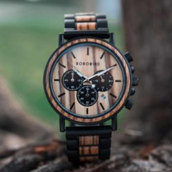 Personalized Engraved Wooden Watches Zebrawood Customized Watch Unique Personalized Gifts for Him - Shine