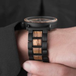 Personalized Engraved Wooden Watches Zebrawood Customized Watch Unique Personalized Gifts for Him - Shine P09-1