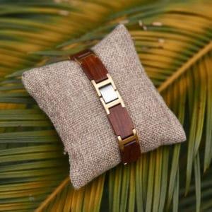 Handmade Natural Red Sandalwood Wooden Bracelets - Indie GT039-2B