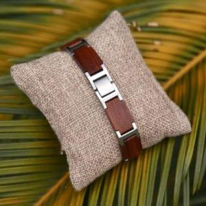 Handmade Natural Red Sandalwood Wooden Bracelets - Jazz GT039-3B
