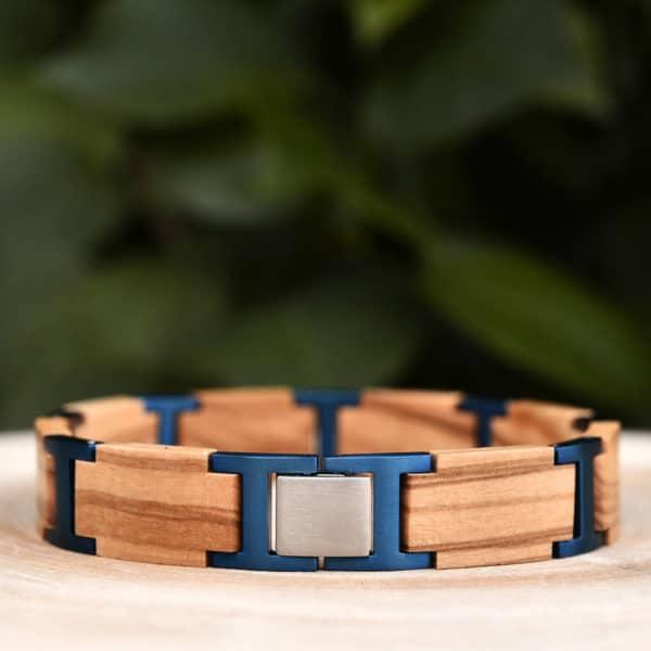 Handmade Natural Ebony Wooden Bracelets - Folk GT039-4B