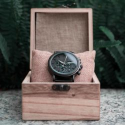 Classic Handmade Personalized Gift Ebony Men's Wooden Watches Best Gift Ideas for Men 2021 - Explorer Q26-1