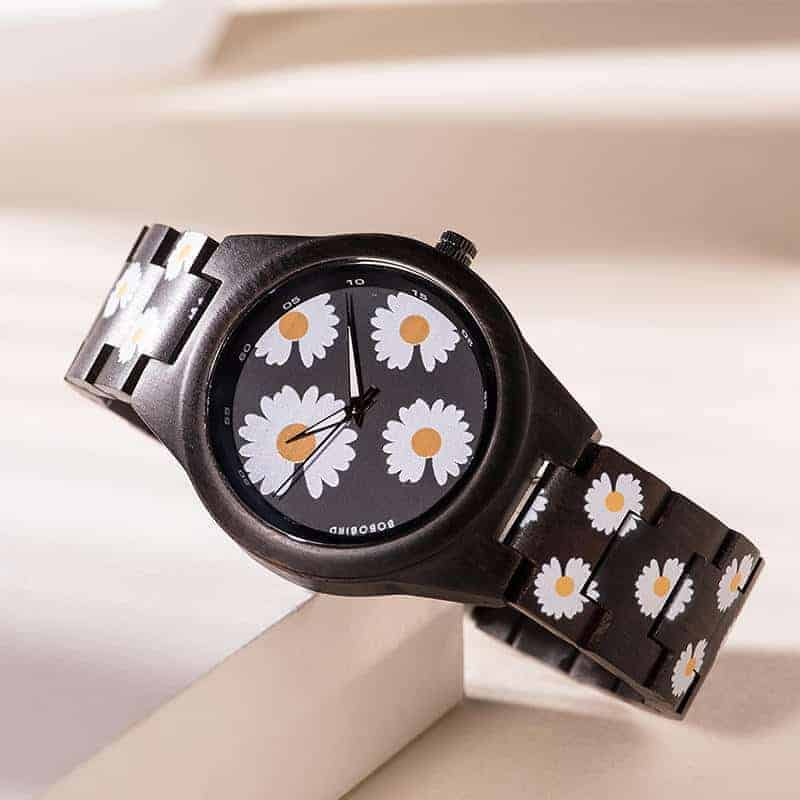 The Fashion Handmade Ebony Printed Unique Wooden Watches