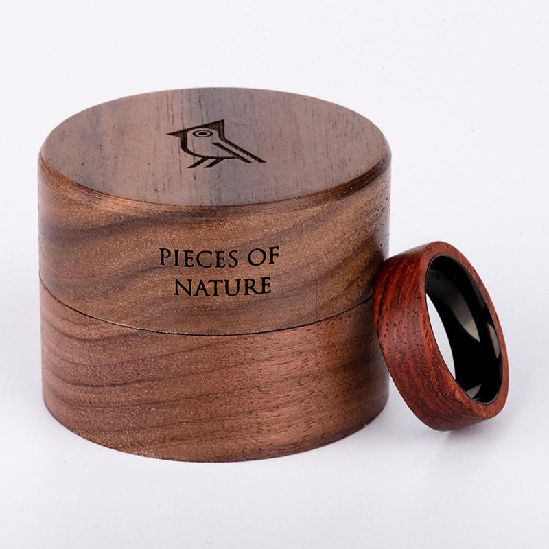 Rosewood Wood Ring Wood Band Climbing Ring Traveler gift Anniversary Gift WR 1 2
