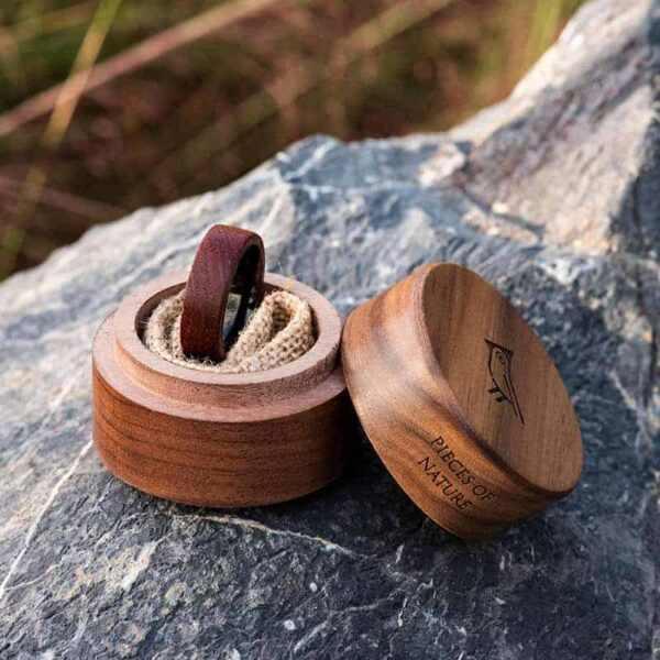 Rosewood Wooden Ring Wood Band Climbing Ring Traveler gift Anniversary Gift