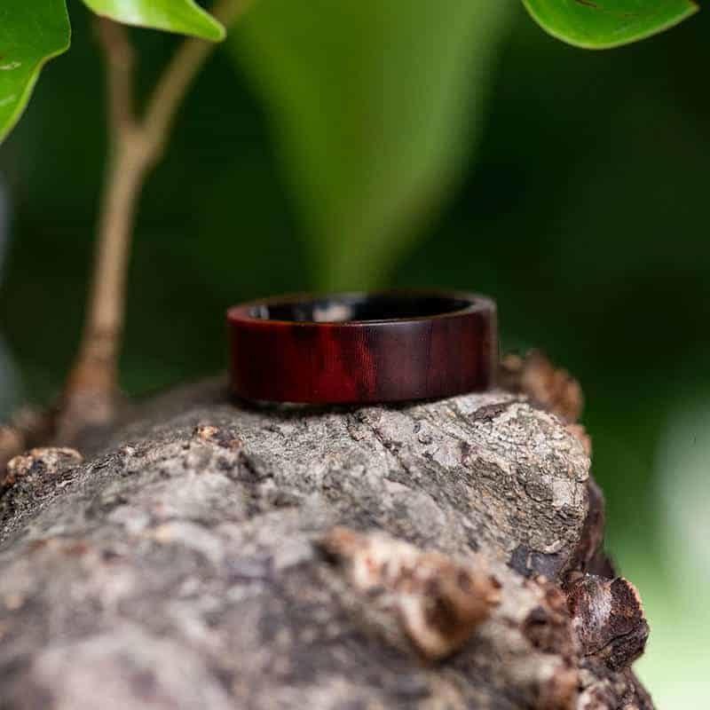 Anniversary Wooden Ring Custom Redwood Wooden Ring Mens wooden rings for men GSP09 01L 10