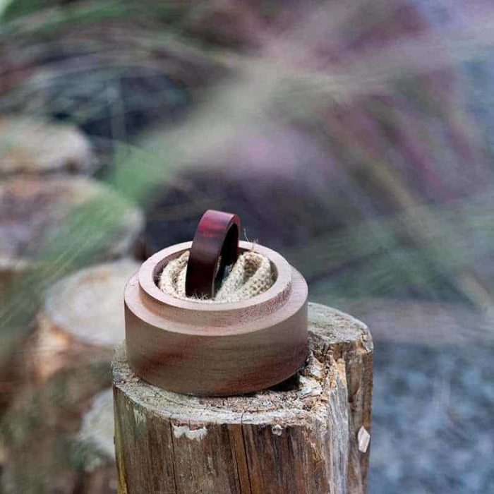 Anniversary Wooden Ring Custom Redwood Wooden Ring Mens wooden rings for men GSP09 01L 12