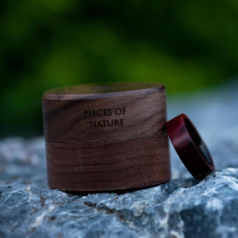 Anniversary Wooden Ring Custom Redwood Wooden Ring Mens wooden rings for men GSP09-01L-13