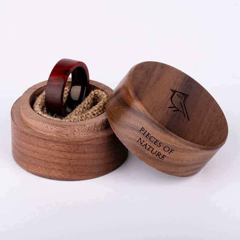Anniversary Wooden Ring Custom Redwood Wooden Ring Mens wooden rings for men GSP09 01L 4