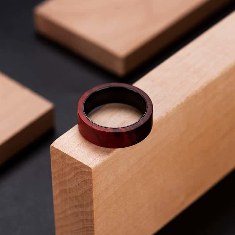 Anniversary Wooden Ring Custom Redwood Wooden Ring Mens wooden rings for men GSP09 01L 5