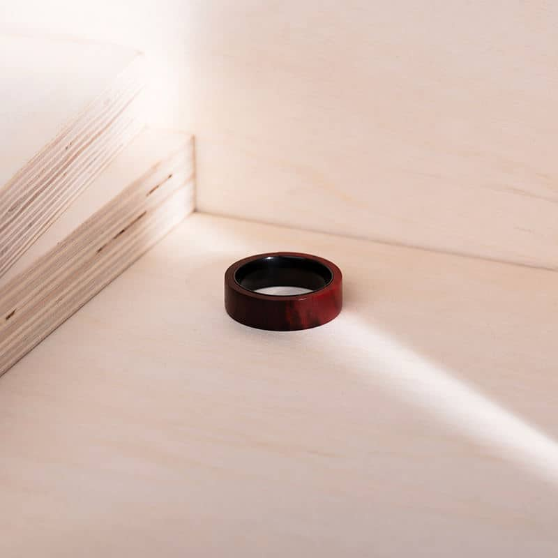 Anniversary Wooden Ring Custom Redwood Wooden Ring Mens wooden rings for men GSP09 01L 6