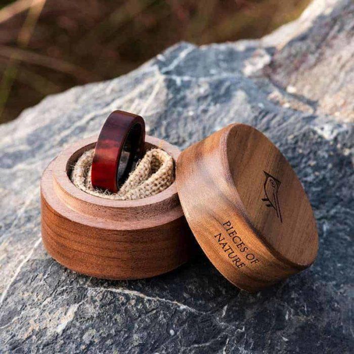 Wooden Ring Custom Redwood Wooden Ring Mens wooden rings for men
