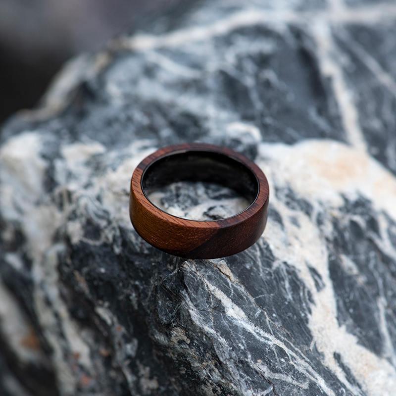 Anniversary Wooden Ring Custom Wooden Ring Mens wooden rings for men GSP09 01K 10