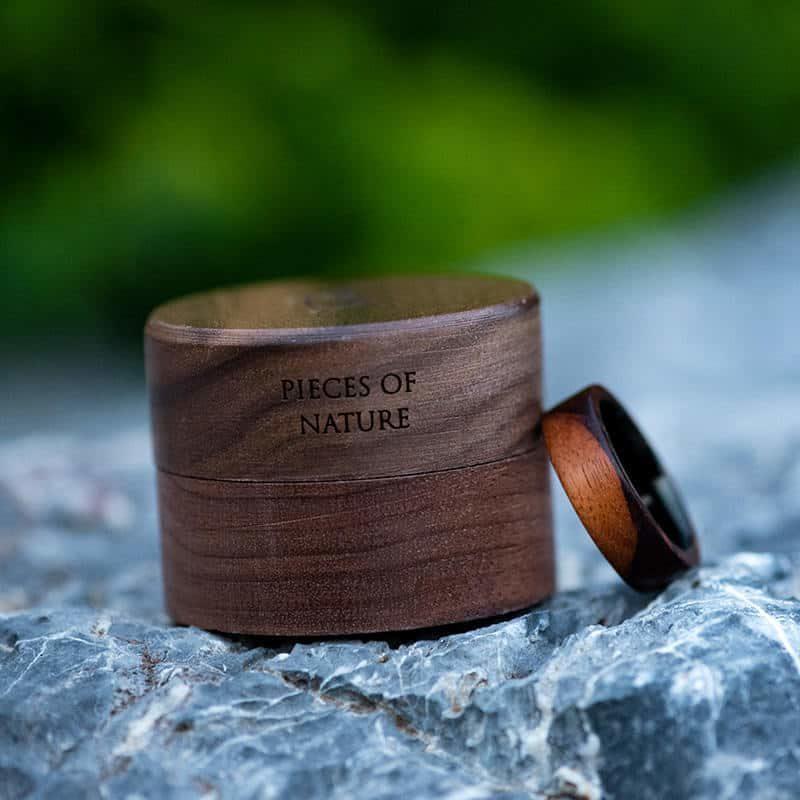 Anniversary Wooden Ring Custom Wooden Ring Mens wooden rings for men GSP09 01K 12