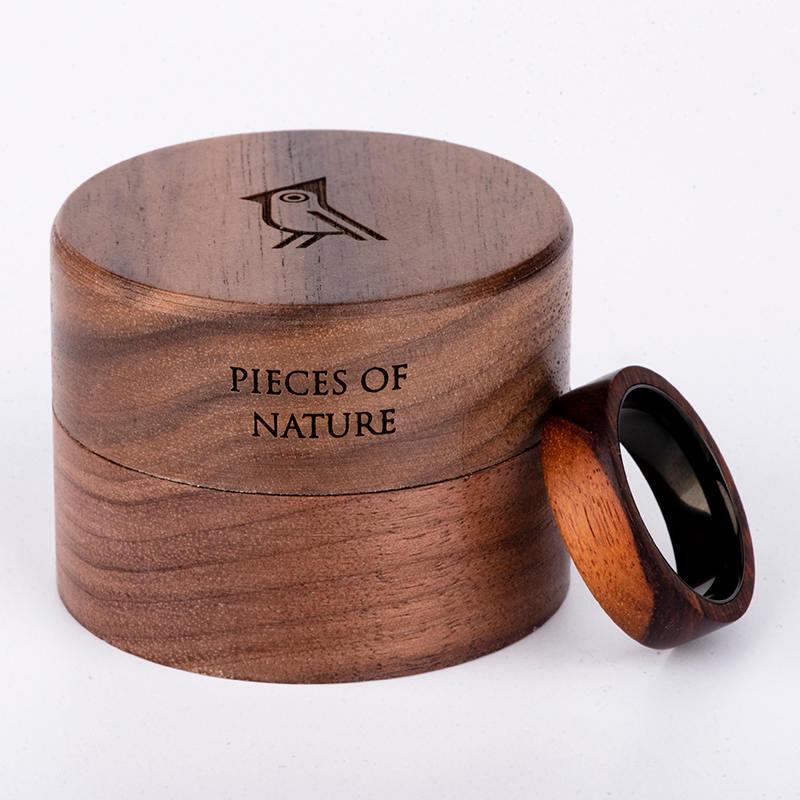 Anniversary Wooden Ring Custom Wooden Ring Mens wooden rings for men GSP09-01K-3