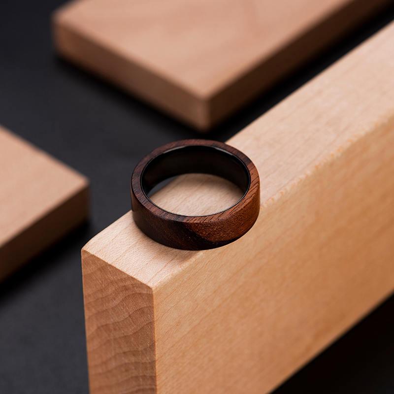 Anniversary Wooden Ring Custom Wooden Ring Mens wooden rings for men GSP09 01K 5