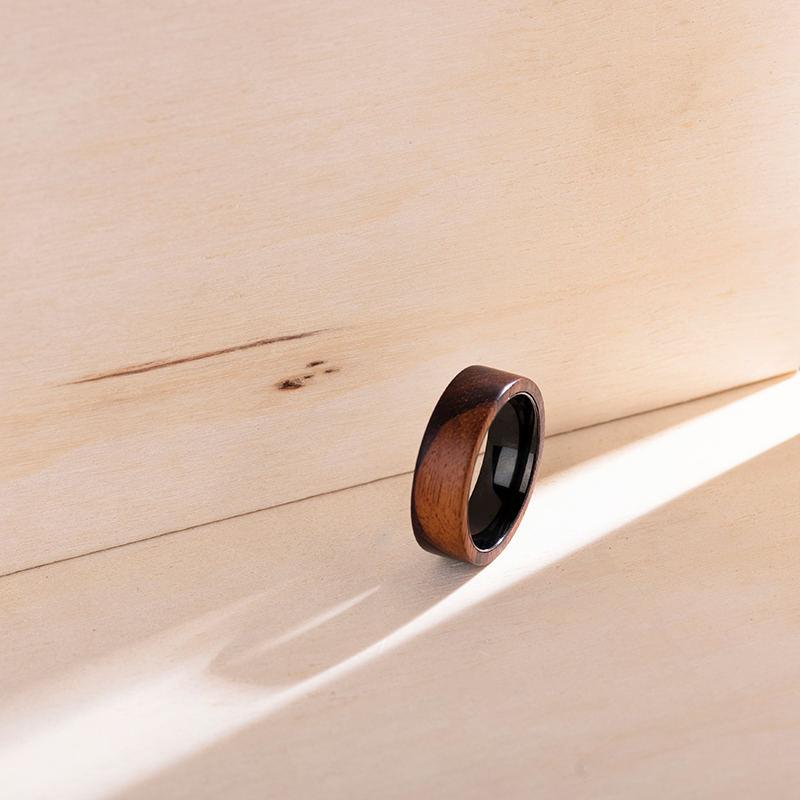 Anniversary Wooden Ring Custom Wooden Ring Mens wooden rings for men GSP09-01K-6