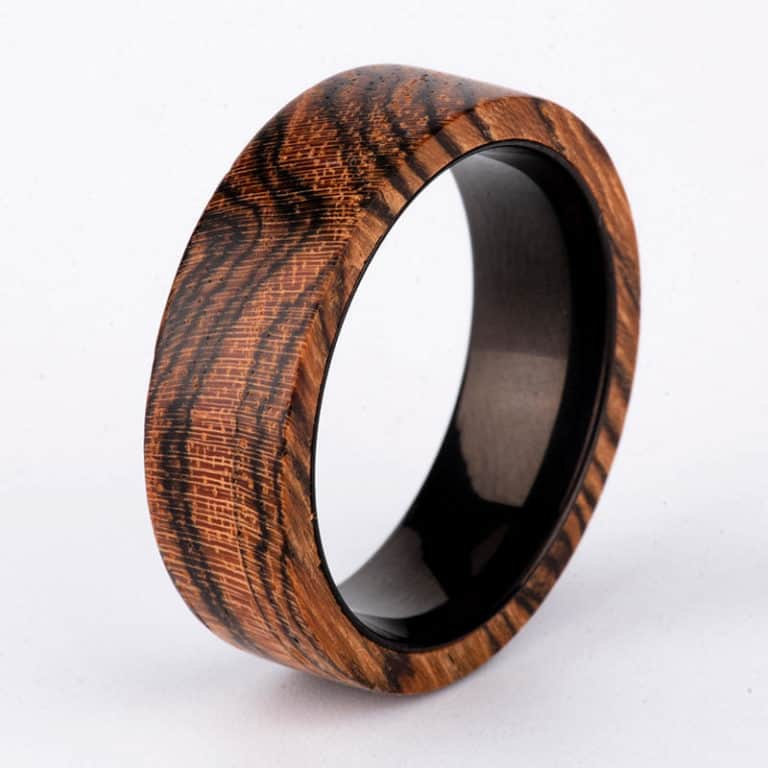 Wood Ring - Custom Wood Ring - Personalized Ring - Engraved - Wedding Ring - Wooden Ring - Mens Jewelry - 5 Year Anniversary