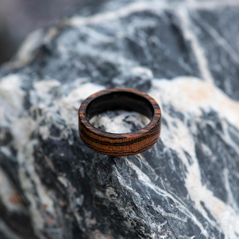 Solid Wooden band Custom wedding ring Wedding band GSP09-01J-10