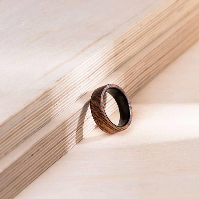 Solid Wooden band Custom wedding ring Wedding band GSP09 01J 12