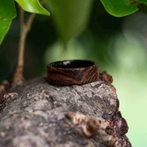 Custom Wood Ring Personalized Engraved Wedding Ring Mens Jewelry 5 Year Anniversary GSP09-01J
