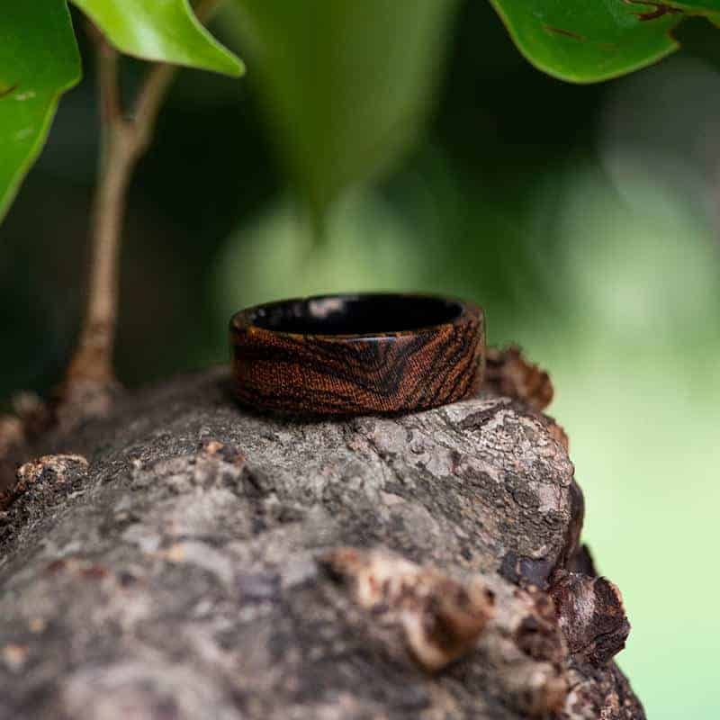 Solid Wooden band Custom wedding ring Wedding band GSP09-01J-13