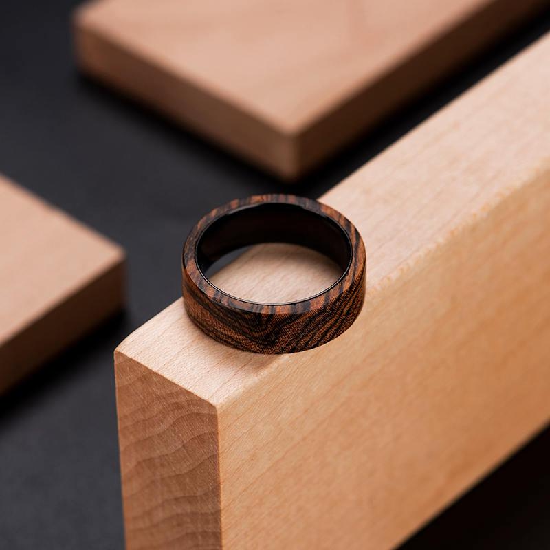 Solid Wooden band Custom wedding ring Wedding band GSP09-01J-17