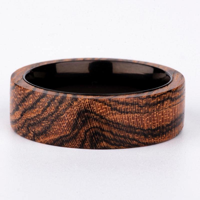 Solid Wooden band Custom wedding ring Wedding band GSP09-01J-2