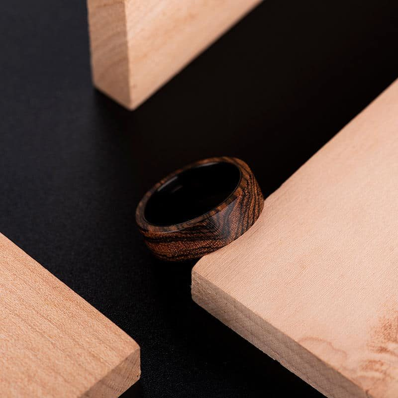 Solid Wooden band Custom wedding ring Wedding band GSP09 01J 6