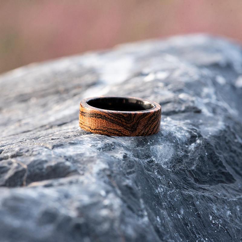 Solid Wooden band Custom wedding ring Wedding band GSP09-01J-7