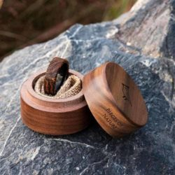 Solid Wooden band Custom wedding ring Wedding band