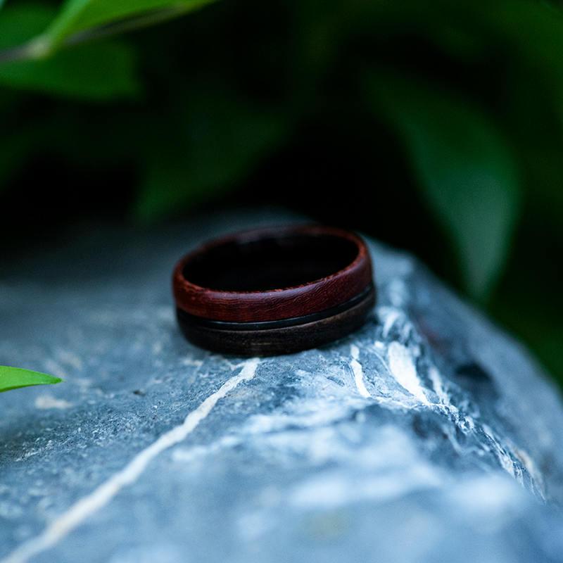 Wood Ring, 5 Year Anniversary Wooden Ring, Custom Wooden Ring Men Wood Ring Men Ring Mens Jewelry Mens wooden ring Wood rings for men GSP11-01K-12