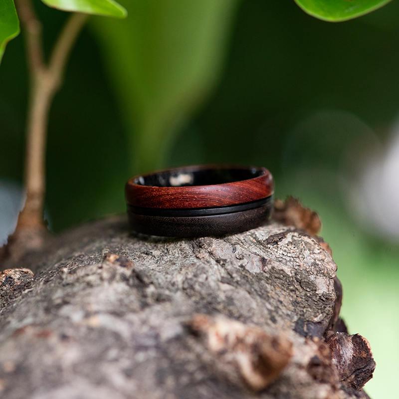 Wood Ring, 5 Year Anniversary Wooden Ring, Custom Wooden Ring Men Wood Ring Men Ring Mens Jewelry Mens wooden ring Wood rings for men GSP11-01K-8