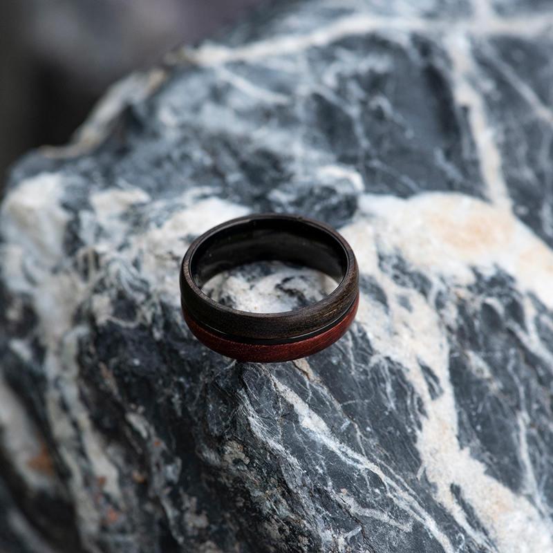 Wood Ring, 5 Year Anniversary Wooden Ring, Custom Wooden Ring Men Wood Ring Men Ring Mens Jewelry Mens wooden ring Wood rings for men GSP11-01K-9