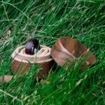 Wood wedding band, Black tungsten wooden ring, Wooden ring for men, Men's wedding band ring GSP10-01L-10