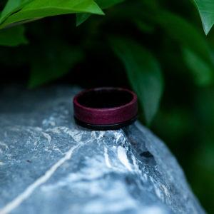 Wood wedding band, Black tungsten wooden ring, Wooden ring for men, Men's wedding band ring GSP10-01L