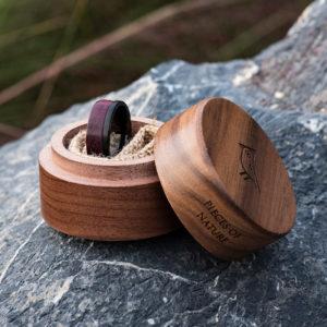 Wood wedding band, Black tungsten wooden ring, Wooden ring for men, Men's wedding band ring GSP10-01L-6