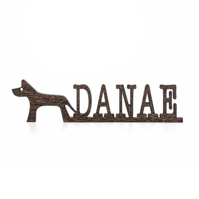 Dog Name Sign Pet Name Sign Dog Mom Gift Pet Lover Gift Custom Dog Sign Dog Wall Art Dog Decor Wooden Wall Art Pet Wood Sign Dog Room Decor DOG 3