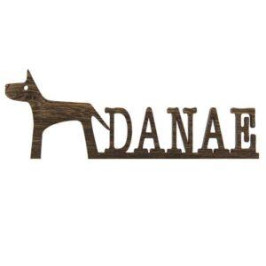 Dog Name Sign Pet Name Sign Dog Mom Gift Pet Lover Gift Custom Dog Sign Dog Wall Art Dog Decor Wooden Wall Art Pet Wood Sign Dog Room Decor DOG005