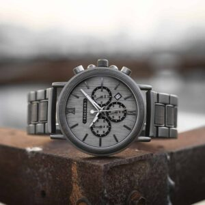 Engraved Wooden Watch For Men Top Brand Luxury Chronograph Military Quartz Watches GT050-2A