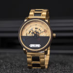 Personalized Automatic Mechanical Handmade Wooden Watches Aviation Military Style Ebony Watch GT043 2A 14