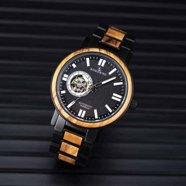 Automatic Mechanical Wooden Watch Fashion Casual Water Resistant Luxury Watches GT045-2A