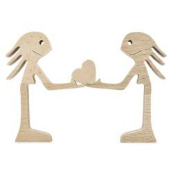 Couple Woman and Woman Wood Sculpture, Couple Wooden Carving Gifts, LGBT Lesbian Valentine Wooden Gifts, Bessgear Unique Custom Valentine Gifts GPL00060
