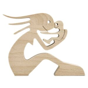 Mom and Children Wood Sculpture, Mothers Day Wooden Carving Gifts, Wooden Gifts for Wife Mom GPL00062